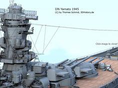 IJN Yamato | 3DHISTORY.DE Yamato Class Battleship, Model Warships, Imperial Japanese Navy, Navy Aircraft, Musashi, Dog Fighting, History Channel, United States Navy, Ship Art