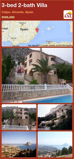 3-bed 2-bath Villa in Calpe, Alicante, Spain ►€595,000 #PropertyForSaleInSpain
