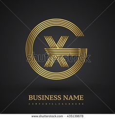 Letter XG or GX linked logo design circle G shape. Elegant gold colored letter symbol. Vector logo design template elements for company identity. - stock vector