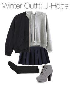 """Winter Outfit: J-Hope"" by kookiechu ❤ liked on Polyvore featuring WithChic, Monki, Charter Club and ANNA"