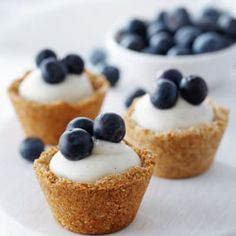 Blueberry Coconut Custard Mini Tarts from Back to Baking by Anna Olson