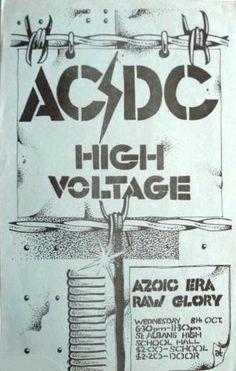 1975/10/08 - AUS, St Albans, High School Hall | Highway To ACDC : le site francophone sur AC/DC