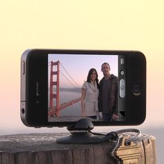 Mini-tripod for your phone so you can take steady, professional-quality pictures. I want it!
