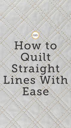 Quilting Stitch Patterns, Beginner Quilt Patterns, Quilt Stitching, Quilting Tips, Quilting Tutorials, Easy Hand Quilting, Hand Quilting Designs, Easy Quilts, Free Motion Quilting