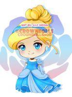 COMM: Chibi Cinderella by crowndolls