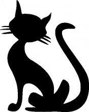 Cat Decal for Cars and Walls: Halloween Decals Car Lover Silhouette Chat, Hirsch Silhouette, Chat Halloween, Moldes Halloween, Car Lover Gifts, Cat Gifts, Glitter Tattoo Stencils, Black Cat Tattoos, Cat Decor