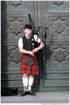 Bagpipe Player High Street,Edinburgh,Scotland.