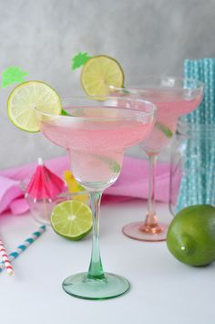 Pink Lemonade Margarita drink recipe is a perfectly fresh and fun cocktail for summer or to make any Mexican meal even better!