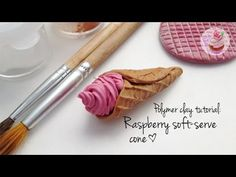 Polymer clay tutorial: Raspberry soft serve cone