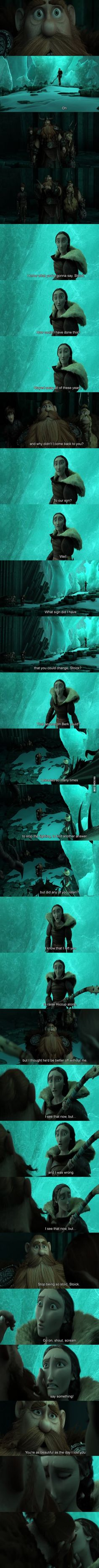 I'm 20 and I teared up in this scene... Best scene in the whole movie, made HTTYD a romance as well.