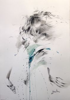 ewa hauton ink on paper www.facebook.com/... #dance #ink #paper #encre #motion #drawing