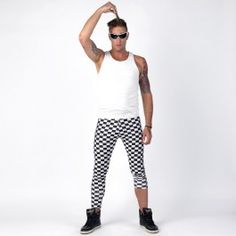 Checkered Meggings $34.95