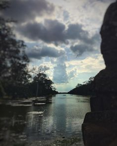 Day 70 - Angkor Wat. Enjoying the last day of temple hunting riding around on our bike. Had to stop for this view