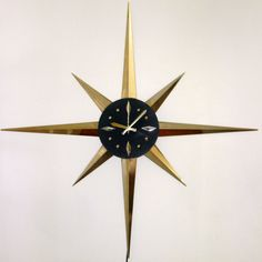 Atomic Starburst Wall Clock by cherryrivers on Etsy, $98.00