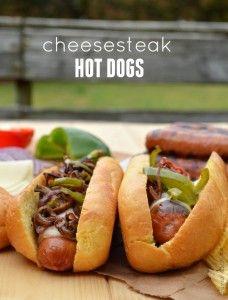 Cheesesteak Hot Dogs - Sugar Dish Me