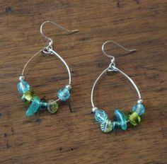 Tutorial: DIY Beaded Wire Hoop Earrings