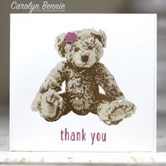 Stampin' Up! Demonstrator Carolyn Bennie – Stampin' Up!s Baby Bear I've got another sneak peak for you today from the upcoming new Stampin' Up! Annual Catalogue. One of my favourite stamp sets from the catalogue is the 3 step Photopolymer stamp set Baby Bear.  Here's what I made … this little bear looked a treat with …