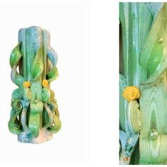 Bougie Sculptee 20cm Bougie Artisanale Bougie Fait Main Bougie
