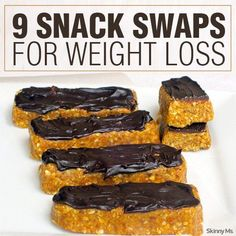 9 Snack Swaps for Weight Loss #healthysnacks #weightloss
