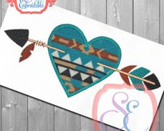 Planet Heart Valentine Applique Design by allthingsapplique