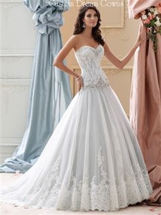extraordinary lace wedding dress with long train | Wedding dresses ...