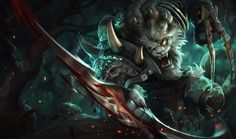 Rengar | League of Legends On every wall of his den, the trophy hunter Rengar mounts the heads, horns, claws, and fangs of the most lethal creatures in Valoran. Though his collection is extensive, he remains unsatisfied, tirelessly seeking greater game. He takes time with every kill, studying his prey, learning, and preparing himself for the next encounter with the one monster he never managed to defeat.