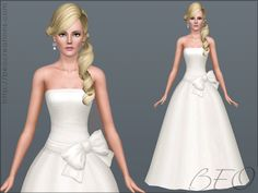Wedding dress 31 for Sims 3 by BEO (1)
