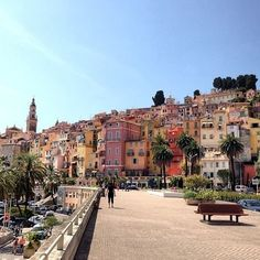 Menton, France is the last city in the French Rivera, before getting to the Italian Border.: