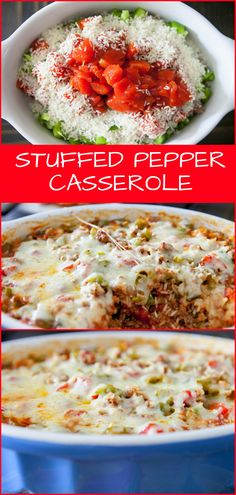 Stuffed Pepper Casserole recipe. This is a quick and easy casserole based on traditional stuffed peppers.