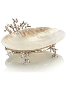 Shop the John-Richard Rockaway Coastal Beach Polished Silver Coral Kabibi Shell Bowl and other Decorative Bowls at Kathy Kuo Home Coastal Style, Coastal Decor, Coastal Cottage, Coastal Farmhouse, Coastal Living, Coastal Kitchens, Coastal Rugs, Modern Coastal, Home Decor Accessories