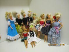 Itsetehtyjä Barbien vaatteita.  ( barbi nuken vaatteita, barbie nukenvaatteita )