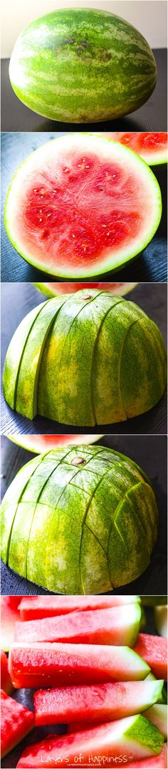How to Cut a Watermelon into Sticks!