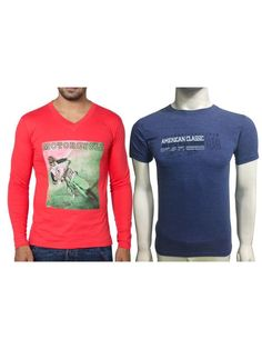 Buy! RED Blue Classic T-shirts Combo Pack ₹499 — India  @ http://www.throwkart.com/mens-clothing/t-shirts/ct1247tc Product Code: CT1247TC Availability: 1