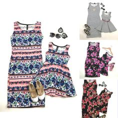 >> Click to Buy << Summer family clothing mother daughter flower dress family matching mother daughter dresses clothes parent child outfits R2-16H #Affiliate
