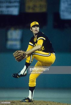 Bert Blyleven of the Pittsburgh Pirates pitches he had one victory during the World Series against the Baltimore Orioles at Memorial Stadium on. Pittsburgh Pirates, National League, Baltimore Orioles, World Series, Pitch, Victorious, Twins, Shirt Designs, Sports