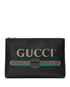 459172f5b2a Gucci Mens Large Logo Pouch Bag