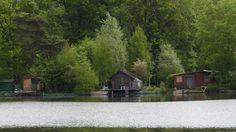 Étangs de Vert-le-Petit - Cabanes des pêcheurs sur l'étang
