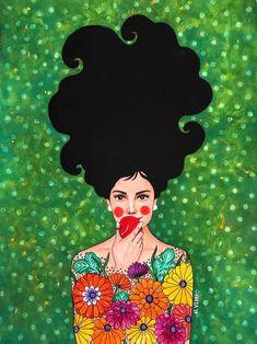 Hulya Ozdemir – Art and Her Arte Fashion, Plakat Design, Arte Pop, Portrait Art, Female Art, Folk Art, Art Drawings, Art Projects, Art Photography