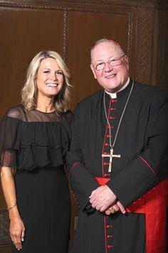 His Eminence, Timothy Michael Cardinal Dolan and Martha MacCallum Photo by: Matthew Adam Photograph   FRIENDS OF INNER-CITY SCHOLARSHIP FU...