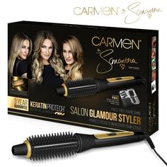 Say hello to perfectly styled healthy hair with the Carmen by Samantha Salon Glamour Styler. Guaranteeing a salon style finish, the Glamour Styler adds volume and body to create a wide variety of glamorous finishes. From sleek, straight styles to big curls, the Salon Glamour Styler lets you experiment with your look without having to visit the salon. Perfect for girls on the go, the Salon Glamour Styler will take you from desk to dancefloor and ensure that you're ready for any situation!