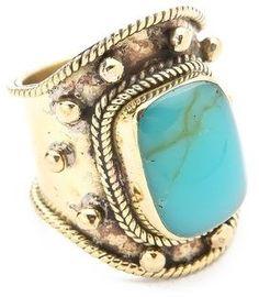 Sunahara malibu Medium Stone Turquoise Wrap Ring on shopstyle.com