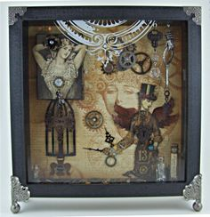 STEAMPUNK ALTERED OBJECT BOX my friend Sue Fraser did for the Graphic 45 design team audition 2012.
