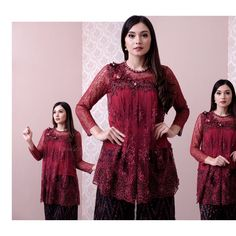 TOP0600 (maroon) Bust 86 / 92 / 96 / 100 / 106 / 112cm Sleeve 50cm Length 70cm Inner & Batik not included (BY REQUEST) For more details and price please contact us :) LINE : @eiwaonline (with @) WA : +6289687171323 -- *Colors may appear slightly different due to lighting during photoshoot, pc/smartphone picture resolution, or individual monitor setting.