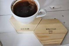 Znalezione obrazy dla zapytania podstawki pod kubki drewniane