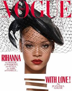 Rihanna on the cover of Vogue Paris December 2017