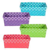 Bulk Bright Rectangular Woven Plastic Baskets at DollarTree.com