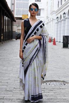Ceylon batik saree - Immediate Shipping - Order Now