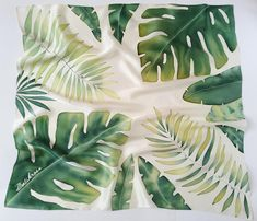tropical scarf hand painted silk scarf gift for women gift