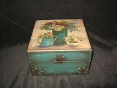 Vintage decoupage box