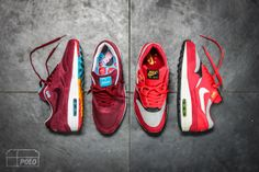 "mikeepolo:  Laceswap, what do you think?! Nike AM1 Burgundy ""Parra Patta"" Nike AM1 Urawa Dragons"
